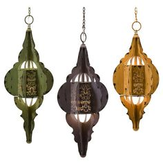 Boho Georgette Lantern Set. I would love these on my porch