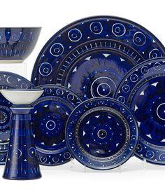 "scandinaviancollectors:"" ULLA PROCOPÉ, Valencia table ware by Arabia Oy, Finland, Stone ware. Mid Century Decor, Mid Century Design, Marimekko, Scandinavian Design, Shades Of Blue, Valencia, Finland, Diy Design, Stoneware"
