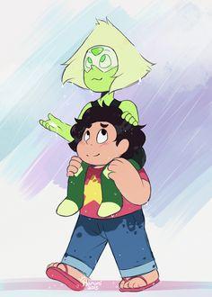 "Peridot and Steven ||| Steven Universe 2x22 ""When It Rains"" Fan Art by princessharumi on Tumblr"