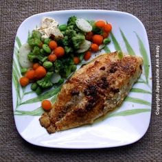 Grilled Swai Fish with Baby Broccoli