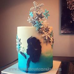 Frozen silhouette cake - Cake by Fondant Custom Cakes