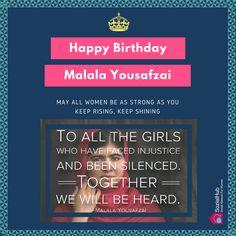 #MalalaYousafzai #HappyBirthday