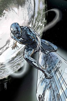 Silver surfer by Alex Maleev.You can find Silver surfer and more on our website.Silver surfer by Alex Maleev. Marvel Comic Character, Comic Book Characters, Comic Book Heroes, Marvel Characters, Comic Books Art, Marvel Comics Art, Marvel Heroes, Captain Marvel, Marvel Marvel