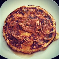 Miss Fit Britt: Sweet Potato Protein Pancake with Peanut Butter Frosting