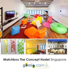 That's a great common area to relax in the Matchbox Concept Hostel in Singapore!     Do you like it?