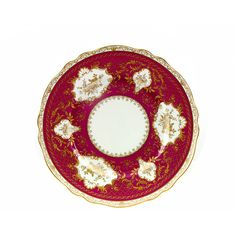 Vintage Plate Krautheim SELB Bavarian Porcelain Charger Bavaria... ($35) ❤ liked on Polyvore featuring plumsandhoney, charger, etsy, home, vintage, medallion dinnerware, scalloped plates, porcelain plates, red dinnerware and porcelain dinnerware