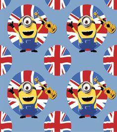Minion British Allover Fleece Fabric