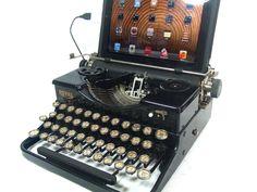 USB Typewriter -- Works like a USB keyboard -- Royal Portable c. 1930s -WANT!