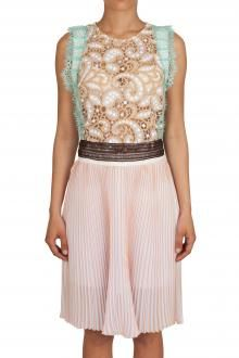 MSGM - DRESS - 230453 - WHITE/BEIGE € 934