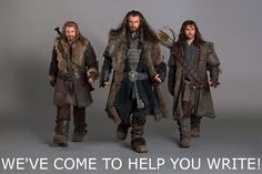 The Hobbit, Richard Armitage, Thorin, Aiden Turner, Kili, Dean O'Gorman, Fili, you should be writing
