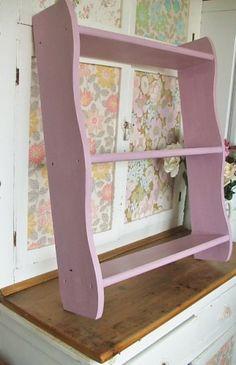Pink Painted Shelf unit