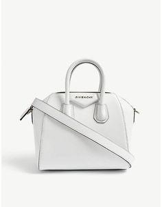 b3fd93af3a04 Givenchy Mini Antigona patent leather tote bag - white givenchy handbag