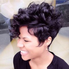 Loose Hairstyles, Pixie Hairstyles, Black Hairstyles, Hairstyles 2016, Ladies Hairstyles, Medium Hairstyles, Short Sassy Hairstyles, 27 Piece Hairstyles, Curly Pixie Haircuts