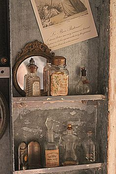 CLICK TO SEE MORE Beauty Room Designs On Our BLOG for #makeup organization, #perfume displays and #beautyroom décor. Vintage perfume bottles