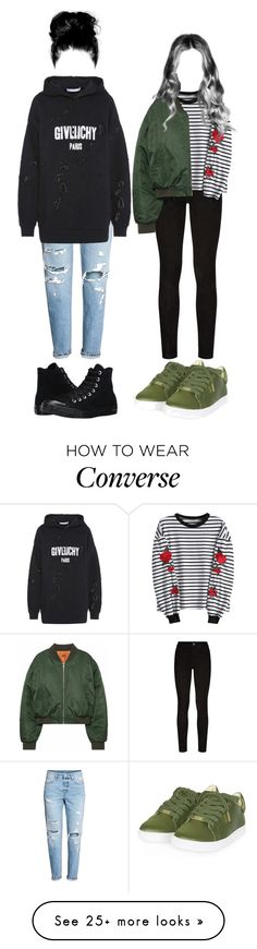 """""""Xia + Cheon"""" by official-4squad on Polyvore featuring Paige Denim, Givenchy, Converse and Topshop"""