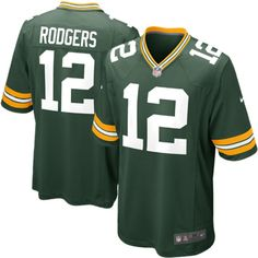cf39039d85e Mens Green Bay Packers Aaron Rodgers Nike Green Game Jersey