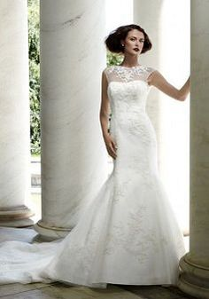 Classic Satin Floor Length Mermaid Dropped Court Train Wedding Dresses - 1300251018B - US$242.79 - BellasDress