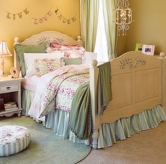 Like this color yellow with the pink and green. I am just not big on painting my rooms pink...
