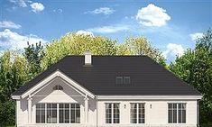 Elewacja tylna projektu Willa Parkowa 5 3d House Plans, Garage Doors, Floor Plans, Outdoor Structures, House Design, Cabin, House Styles, Outdoor Decor, Home Decor
