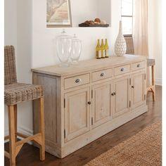 Wilson Antique White Reclaimed Pine 4-drawer/ 4-door Sideboard