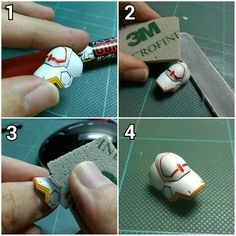 """""""WIP : HG 1/144 ASW-G-08 Gundam Barbatos Don't want to use those pink crappy stickers on the armor of the Barbatos? Yes! Are you a lazy ass and want…"""""""