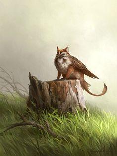 Small Griffin by sandara.deviantart.com on @deviantART -- Keaton-cat-sparrow?