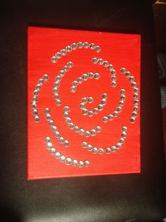 Minimalist rose craft for an AOII big/little reveal present.