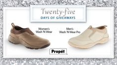 Today's the last day of our #25DaysofGiveaways contest!  Don't be afraid to get your shoes dirty in a pair of Propét Wash N Wear shoes. Enter to win here.