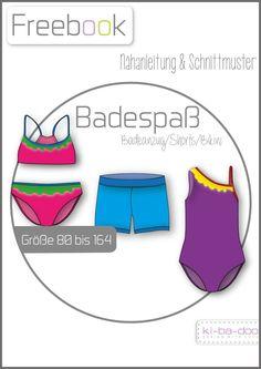 Freebook Badespaß-Badebekleidung Kids - Schnittmuster und Anleitung als PDF, versandkostenfrei