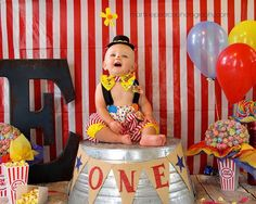 Boys Circus Outfit, Baby Clown Costume, 1st Birthday,  Carnival Photo Prop, Boys Circus Birthday/Handmade by MYSWEETCHICKAPEA