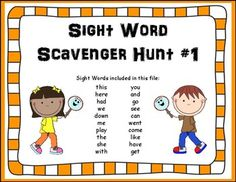 This is a fun way to get your students motivated to learn their sight words. This twenty word scavenger hunt is an easy to prepare activity! Look for more scavenger hunts in a variety of subject areas in my store.