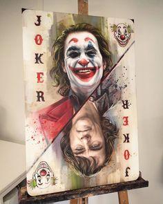 Painting joker by ben jeffery Ps Wallpaper, Joker Iphone Wallpaper, Joker Wallpapers, Phone Wallpapers, Joker Photos, Joker Images, Joker Batman, Joker And Harley Quinn, Foto Joker
