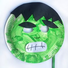 Make your own DIY Hulk mask, perfect for any superhero loving kids and their parents that love thrifty craft ideas!