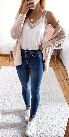 casual outfits for winter . casual outfits for women . casual outfits for work . casual outfits for school . Summer Outfits Women 30s, Cute Spring Outfits, Cute Casual Outfits, Work Outfits, Winter Outfits, Spring Outfits For School, Spring Clothes, Summer Skinny Jeans Outfits, Casual Shopping Outfit