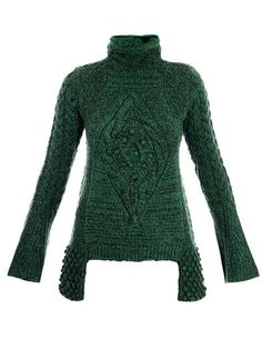 How lush is this Chunk aran knit sweater from Alexander McQueen?!