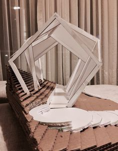 Concept Models Architecture, Architecture Model Making, Conceptual Architecture, Origami Architecture, Architecture Visualization, Amazing Architecture, Architecture Design, Urban Planning, Volcano