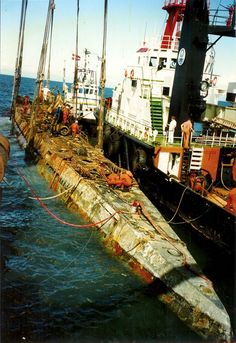 Recovered Nazi Submarine U-534, after being raised from the sea bottom