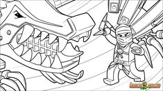 Printable coloring page for LEGO Ninjago Zane And His Ice Dragon Coloring Page, Wallpaper