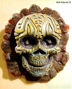 Maori Lava Rock Skull - Christopher Soprano of Sop Art Studio, created this sculpture.