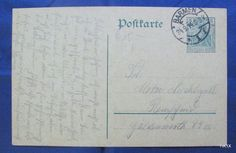 Germany 1914 Nice Postkarte Barmen Local Clear Post Office @philately @stamps @filatelia @covers