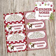 Christmas printables like gift tags, Reindeer Noses, Snowman Poop, Santa bunting etc                                                                                                                                                                                 More