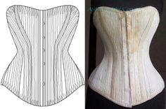 Ref R Patronage corset ancien cordé Jackson - patron couture - Atelier Sylphe Corsets - Fait Maison