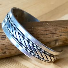 Vintage Navajo Ron Yazzie Sterling Silver Classic Unisex Cuff Bracelet... ✨  sugardrawers.etsy.com