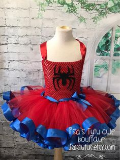 Girl Spiderman Costume, Spiderman Dress, Spider Girl Costume, Spiderman Girl, Marvel Dress, Super Hero Tutu, Super Hero Costumes, Frozen Birthday Outfit, Birthday Tutu