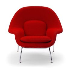 Florence Knoll asked Eero Saarinen to design a chair she could 'curl up in, like a basket of pillows' he created the Womb Chair.