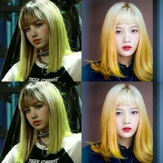 Yellow hair. 🍋 #lisa #joy #blackpink #redvelvet #lalisamanoban #parksooyoung  #레드벨벳 #박수영 #조이 #블랙핑크 #리사 #라리사마노반 Yellow Hair, Blackpink Lisa, Pink Velvet, Hair Color, Beauty, Haircolor, Blonde Hair Colour, Hair Dye