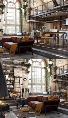 Home Designing - (over 40 incredible lofts that push boundaries - home design id. - Home Designing – (over 40 incredible lofts that push boundaries – home design ideas # - Industrial Interior Design, Industrial Living, Home Interior Design, Interior Architecture, Industrial Style, Industrial Furniture, Industrial Loft Apartment, Industrial Farmhouse, Kitchen Interior