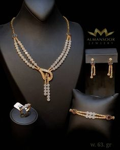 How To Choose The Perfect Pair Of Gold Diamond Earrings Gold Necklace Simple, Diamond Necklace Set, Gold Diamond Earrings, Diamond Jewelry, Real Gold Jewelry, Gold Jewellery Design, Couture, Necklace Designs, Boutique