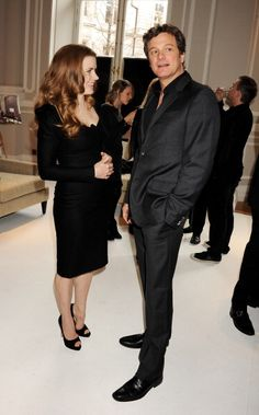 Actors Amy Adams and Colin Firth attend Momentum Pictures' preBAFTA Lunch At The…