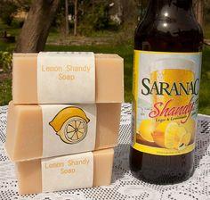 Lemon Shandy Beer Soap by beersuds on Etsy, $4.75